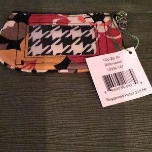 Vera Bradley Clip Zip ID purse